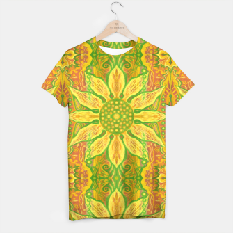 Thumbnail image of Sun Flower,  yellow, green and orange T-shirt, Live Heroes