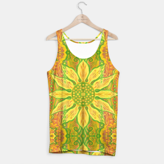 Thumbnail image of Sun Flower,  yellow, green and orange Tank Top, Live Heroes