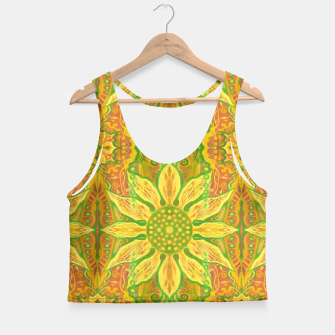 Thumbnail image of Sun Flower,  yellow, green and orange Crop Top, Live Heroes