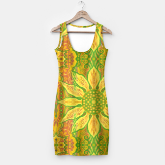 Thumbnail image of Sun Flower,  yellow, green and orange Simple Dress, Live Heroes