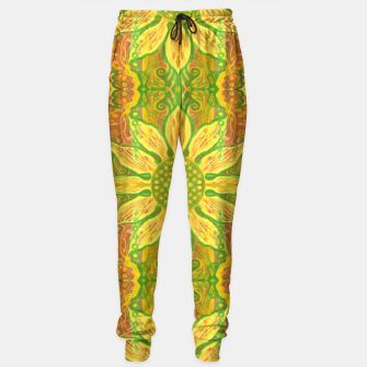 Thumbnail image of Sun Flower,  yellow, green and orange Sweatpants, Live Heroes