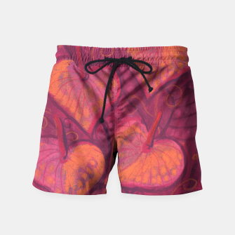 Thumbnail image of Hearty Flowers, funky floral art, pink orange & burgundy Swim Shorts, Live Heroes