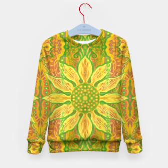 Thumbnail image of Sun Flower,  yellow, green and orange Kid's Sweater, Live Heroes