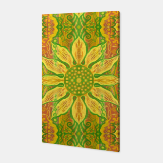 Thumbnail image of Sun Flower,  yellow, green and orange Canvas, Live Heroes
