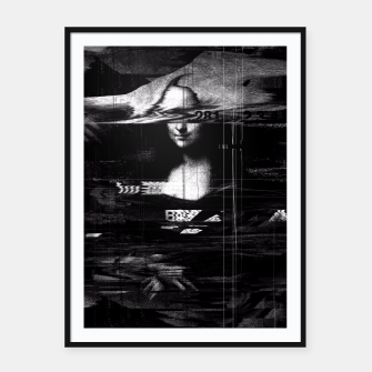 Thumbnail image of Monalisa Glitch Framed poster, Live Heroes