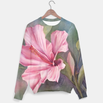 Thumbnail image of TROPICAL PINK HIBISCUS Sweater, Live Heroes
