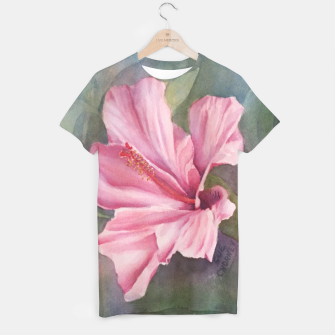 Thumbnail image of TROPICAL PINK HIBISCUS T-shirt, Live Heroes