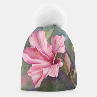 Thumbnail image of TROPICAL PINK HIBISCUS Beanie, Live Heroes