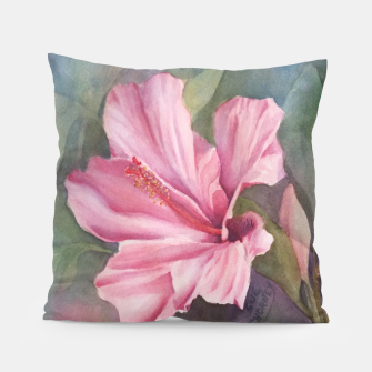 Thumbnail image of TROPICAL PINK HIBISCUS Pillow, Live Heroes