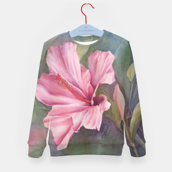 Thumbnail image of TROPICAL PINK HIBISCUS Kid's Sweater, Live Heroes