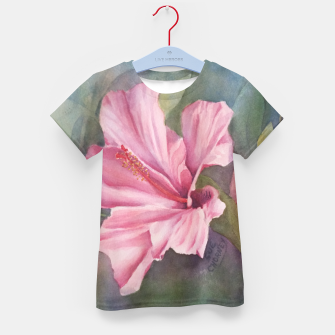 Thumbnail image of TROPICAL PINK HIBISCUS Kid's T-shirt, Live Heroes