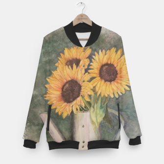 Thumbnail image of HAPPY SUNFLOWERS Baseball Jacket, Live Heroes