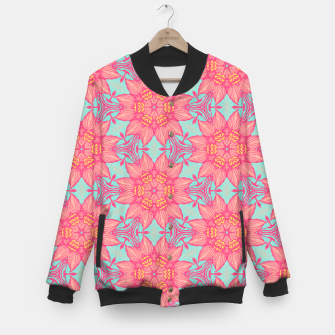 Thumbnail image of Abstract Flowers Baseball Jacket, Live Heroes