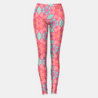 Thumbnail image of Abstract Flowers Leggings, Live Heroes