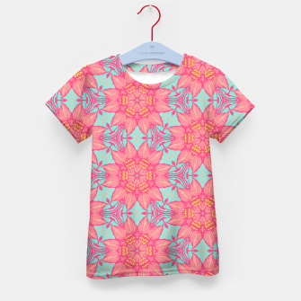 Thumbnail image of Abstract Flowers Kid's T-shirt, Live Heroes