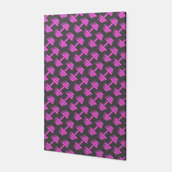 Thumbnail image of Dumbbellicious PINK GREY Canvas, Live Heroes