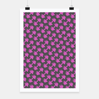 Thumbnail image of Dumbbellicious PINK GREY Poster, Live Heroes