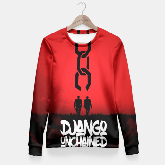 Thumbnail image of Django Unchained - Minimal Movie Poster. A Film by Quentin Tarantino. Fitted Waist Sweater, Live Heroes