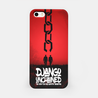 Thumbnail image of Django Unchained - Minimal Movie Poster. A Film by Quentin Tarantino. iPhone Case, Live Heroes