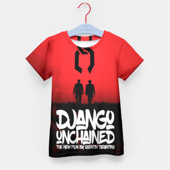 Thumbnail image of Django Unchained - Minimal Movie Poster. A Film by Quentin Tarantino. Kid's T-shirt, Live Heroes
