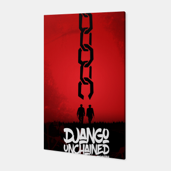 Thumbnail image of Django Unchained - Minimal Movie Poster. A Film by Quentin Tarantino. Canvas, Live Heroes