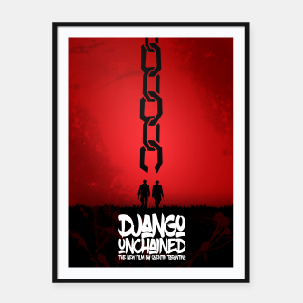 Thumbnail image of Django Unchained - Minimal Movie Poster. A Film by Quentin Tarantino. Framed poster, Live Heroes