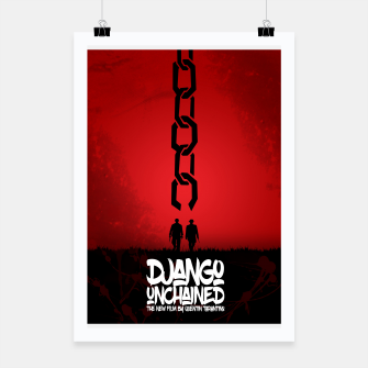 Thumbnail image of Django Unchained - Minimal Movie Poster. A Film by Quentin Tarantino. Poster, Live Heroes