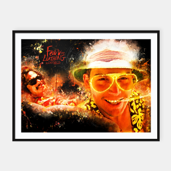 Miniatur Fear and Loathing in Las Vegas - Alternative Movie Poster Framed poster, Live Heroes