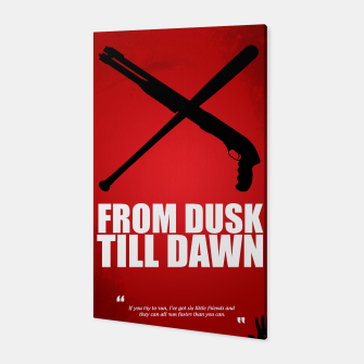Miniatur From Dusk Till Dawn - Minimal Movie Poster - Alternative  Canvas, Live Heroes