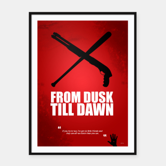 Miniatur From Dusk Till Dawn - Minimal Movie Poster - Alternative  Framed poster, Live Heroes