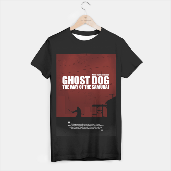 Thumbnail image of Ghost Dog - The Way of the Samurai. Minimal Movie Poster. A Film by Jim Jarmusch. T-shirt regular, Live Heroes