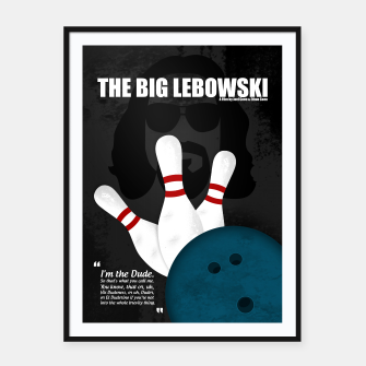 Thumbnail image of The Big Lebowski - Minimal Movie Poster. A Film by Joel Coen and Ethan Coen. Framed poster, Live Heroes