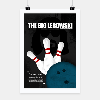 Thumbnail image of The Big Lebowski - Minimal Movie Poster. A Film by Joel Coen and Ethan Coen. Poster, Live Heroes