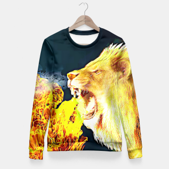 Miniaturka Fire Lion  Fitted Waist Sweater, Live Heroes