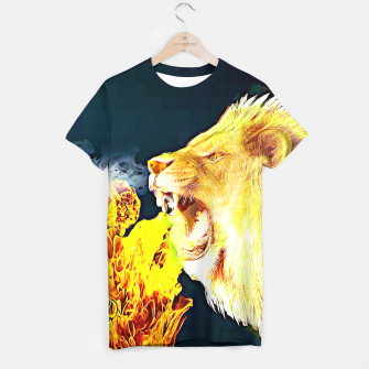 Thumbnail image of Fire Lion  T-shirt, Live Heroes