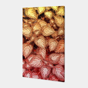 Lovely Leaves, in Red and Gold Canvas thumbnail image