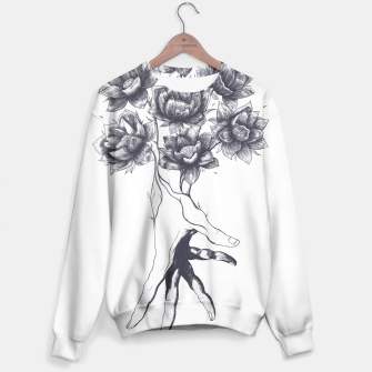 Thumbnail image of Hand with lotuses Sweater, Live Heroes