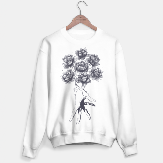 Thumbnail image of Hand with lotuses Sweater regular, Live Heroes