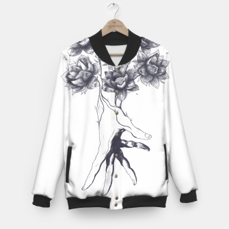 Thumbnail image of Hand with lotuses Baseball Jacket, Live Heroes