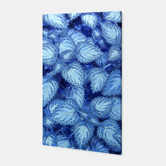 Lovely Leaves, in Blue Canvas thumbnail image