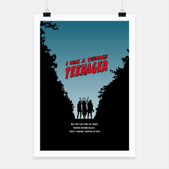 Thumbnail image of Teenage Terror Poster, Live Heroes