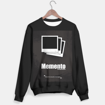 Thumbnail image of Memento. Minimal Movie Poster - A Christopher Nolan Film. Sweater regular, Live Heroes