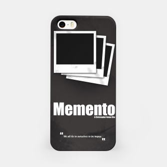 Thumbnail image of Memento. Minimal Movie Poster - A Christopher Nolan Film. iPhone Case, Live Heroes
