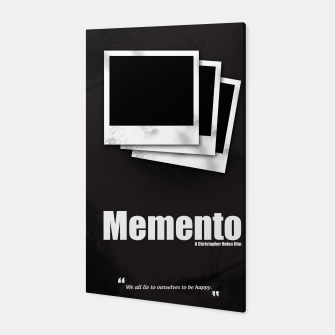 Thumbnail image of Memento. Minimal Movie Poster - A Christopher Nolan Film. Canvas, Live Heroes