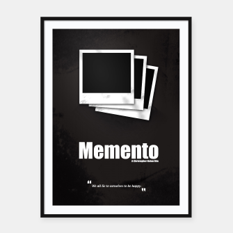 Thumbnail image of Memento. Minimal Movie Poster - A Christopher Nolan Film. Framed poster, Live Heroes
