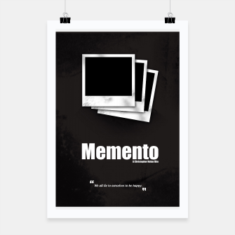 Thumbnail image of Memento. Minimal Movie Poster - A Christopher Nolan Film. Poster, Live Heroes