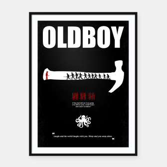 Thumbnail image of Oldboy - Minimal Movie Poster. A Film by Chan-wook Park. Framed poster, Live Heroes
