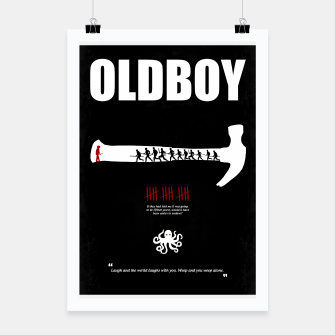 Thumbnail image of Oldboy - Minimal Movie Poster. A Film by Chan-wook Park. Poster, Live Heroes