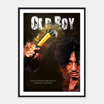 Miniatur Oldboy - alternative art poster Framed poster, Live Heroes