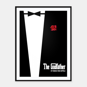 Miniatur Godfather - minimal fanart alternative movie poster Framed poster, Live Heroes